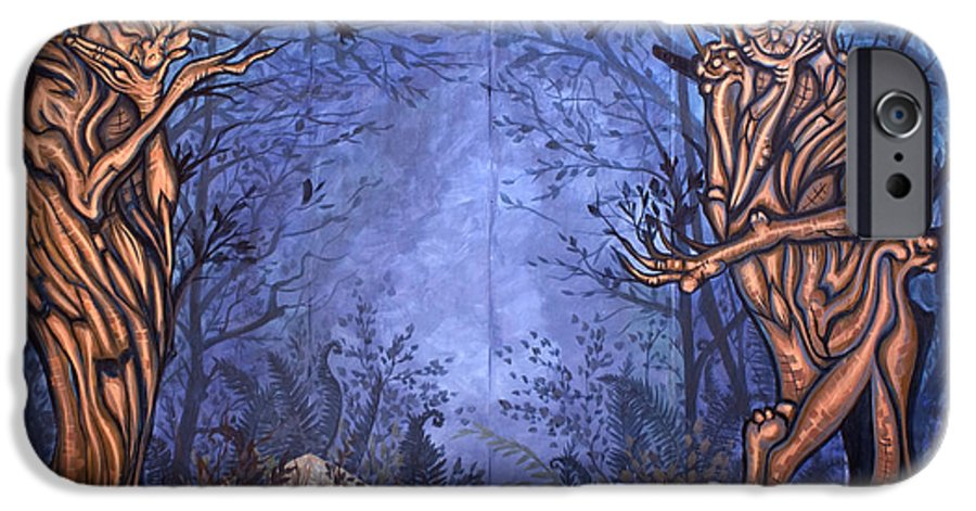 Mystic IPhone 6 Case featuring the painting Forest by Judy Henninger