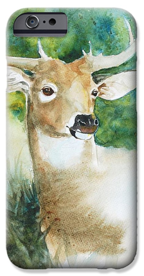 Deer IPhone 6 Case featuring the painting Forest Spirit by Christie Michelsen