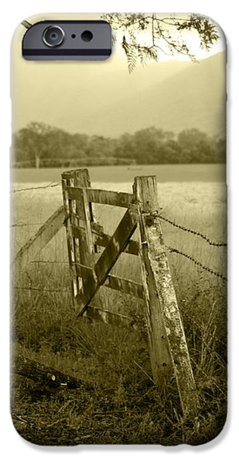 Gate IPhone 6 Case featuring the photograph Forgotten Fields by Holly Kempe