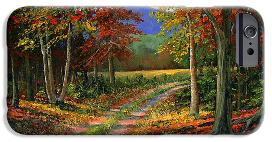 Landscape IPhone 6 Case featuring the painting Forgotten Road by Frank Wilson