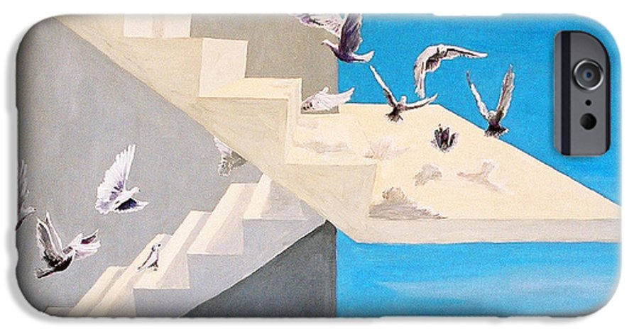 Birds IPhone 6 Case featuring the painting Form Without Function by Steve Karol