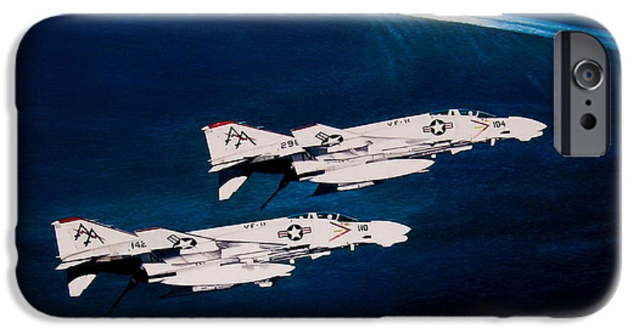 Military IPhone 6 Case featuring the painting Forrestal S Phantoms by Marc Stewart