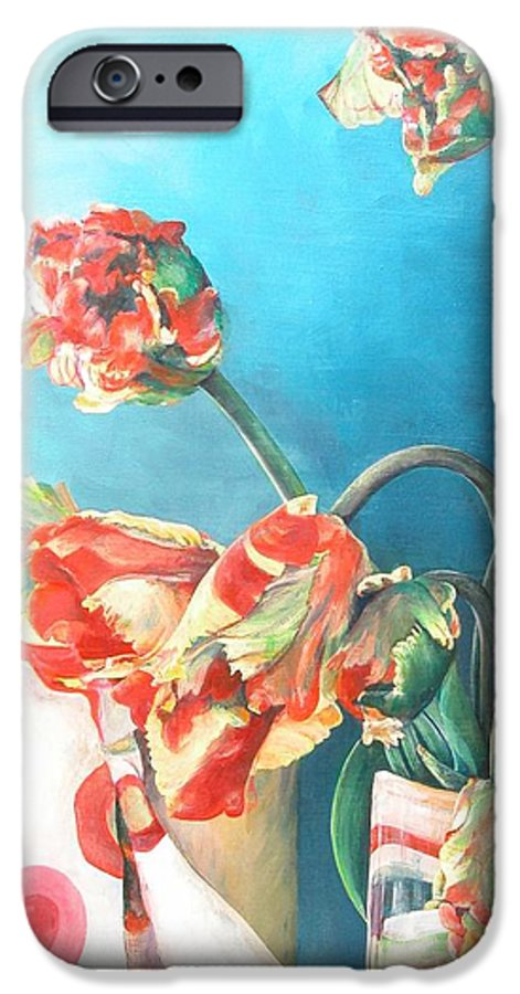 Still Life IPhone 6 Case featuring the painting Foulard by Muriel Dolemieux