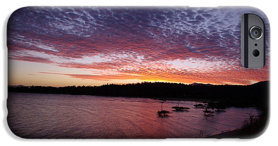 Landscape IPhone 6 Case featuring the photograph Four Elements Sunset Sequence 1 Coconuts Qld by Kerryn Madsen - Pietsch