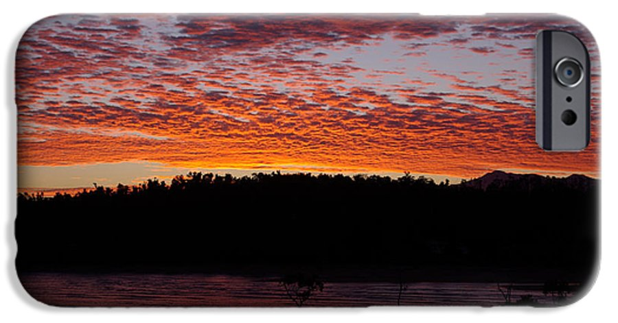 Landscape IPhone 6 Case featuring the photograph Four Elements Sunset Sequence 2 Coconuts Qld by Kerryn Madsen - Pietsch