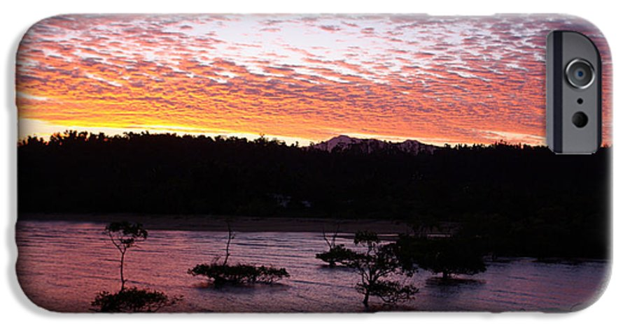 Landscape IPhone 6 Case featuring the photograph Four Elements Sunset Sequence 3 Coconuts Qld by Kerryn Madsen - Pietsch
