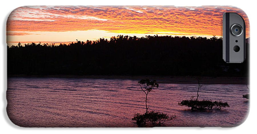 Landscape IPhone 6 Case featuring the photograph Four Elements Sunset Sequence 5 Coconuts Qld by Kerryn Madsen - Pietsch