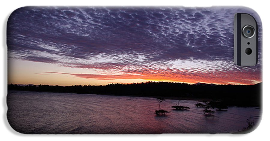 Landscape IPhone 6 Case featuring the photograph Four Elements Sunset Sequence 7 Coconuts Qld by Kerryn Madsen - Pietsch