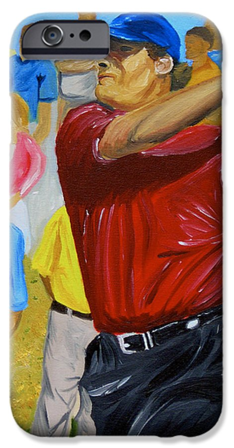 Golf IPhone 6 Case featuring the painting Four by Michael Lee