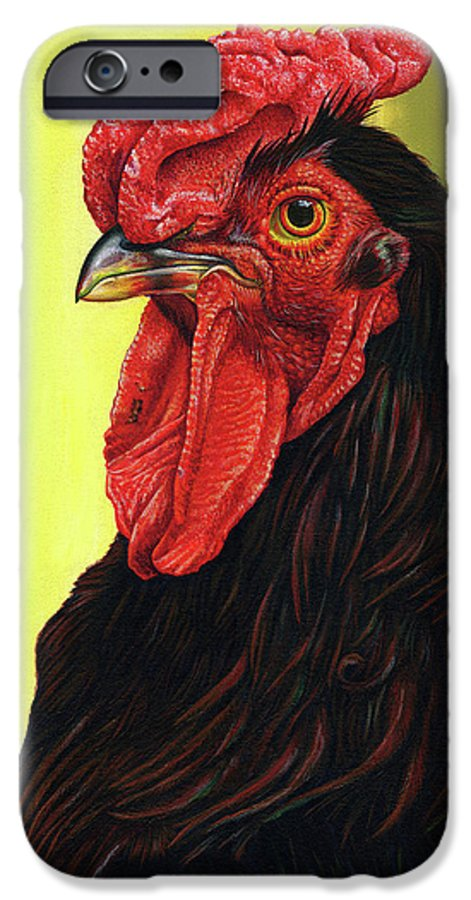 Rhode IPhone 6 Case featuring the painting Fowl Emperor by Cara Bevan