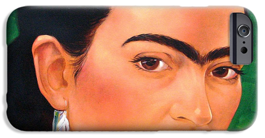 Frida Kahlo IPhone 6 Case featuring the painting Frida Kahlo 2003 by Jerrold Carton
