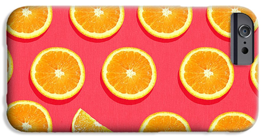 Abstract IPhone 6 Case featuring the painting Fruit 2 by Mark Ashkenazi