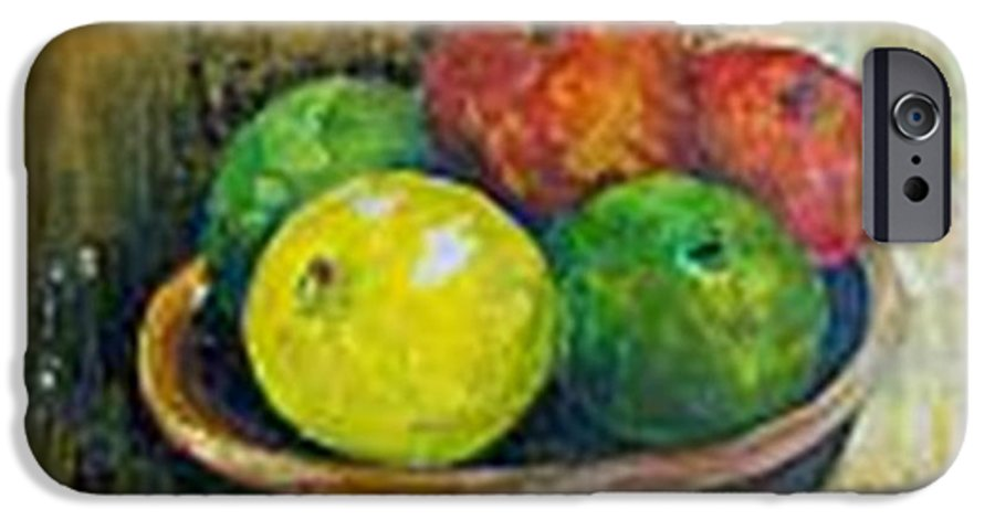 Apples And Oranges IPhone 6 Case featuring the painting Frutas by Carol P Kingsley