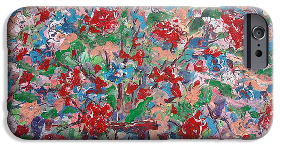 Painting IPhone 6 Case featuring the painting Full Bloom. by Leonard Holland