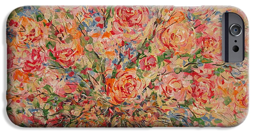 Flowers IPhone 6 Case featuring the painting Full Bouquet. by Leonard Holland