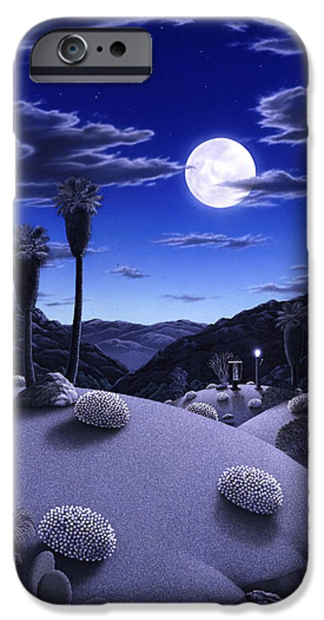 Desert IPhone 6 Case featuring the painting Full Moon Rising by Snake Jagger
