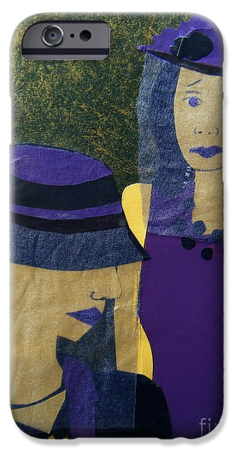 Purple IPhone 6 Case featuring the mixed media Funeral Masks by Debra Bretton Robinson