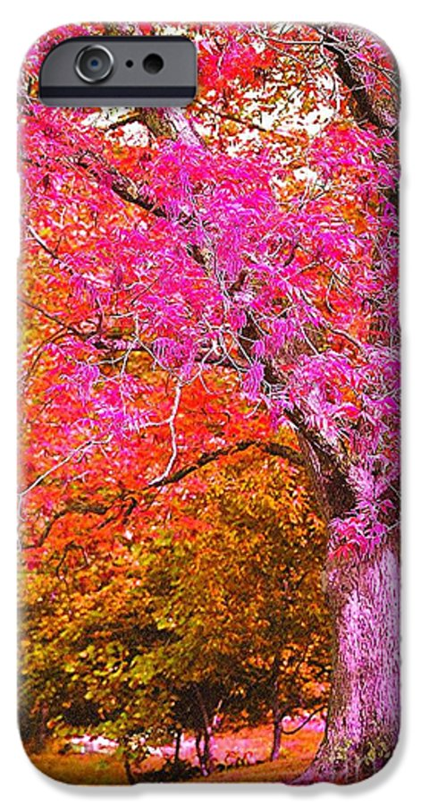 Fuschia IPhone 6 Case featuring the photograph Fuschia Tree by Nadine Rippelmeyer