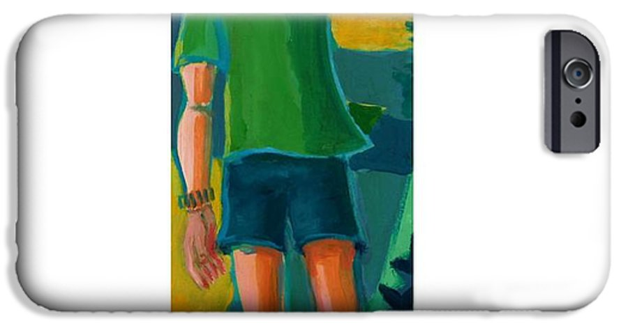 Portrait IPhone 6 Case featuring the painting Gabrielle by Debra Bretton Robinson