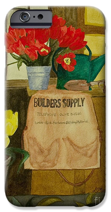 Tulips IPhone 6 Case featuring the painting Gardner by Louise Magno