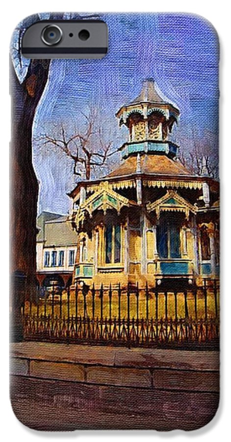 Architecture IPhone 6 Case featuring the digital art Gazebo And Tree by Anita Burgermeister