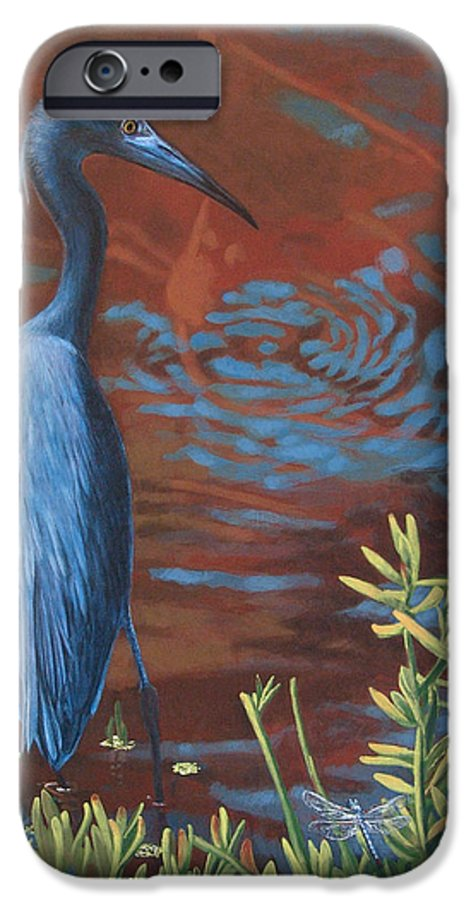 Painting IPhone 6 Case featuring the painting Gazing Intently by Peter Muzyka