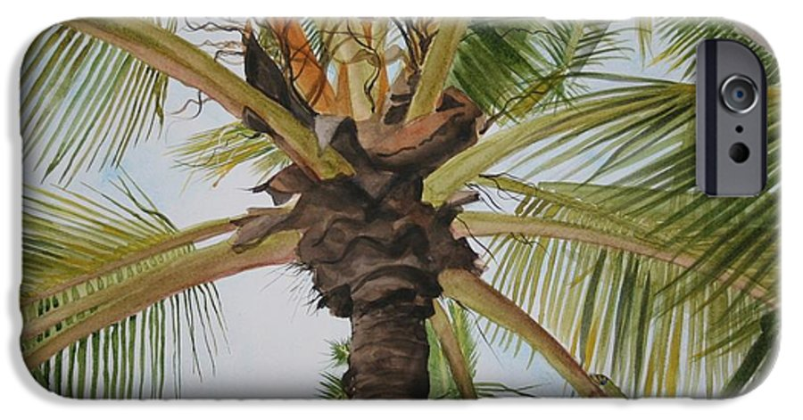 Palm Tree IPhone 6 Case featuring the painting Gecko Heaven by Jean Blackmer