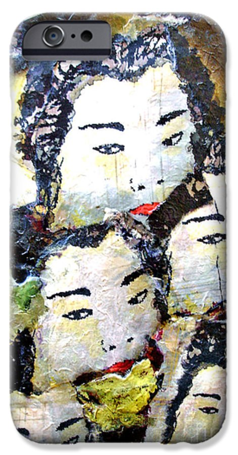 Geisha Girls IPhone 6 Case featuring the mixed media Geisha Girls by Shelley Jones