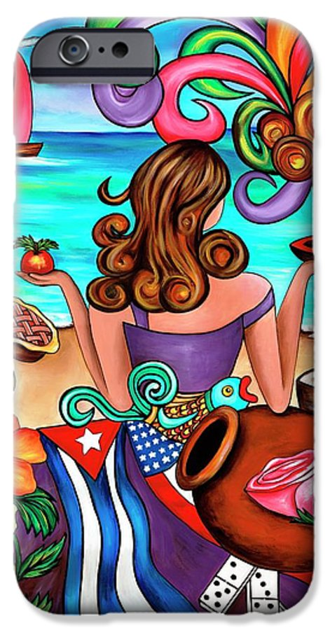 Cuba IPhone 6 Case featuring the painting Generation Spanglish by Annie Maxwell