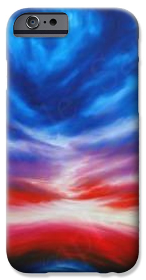 Tempest IPhone 6 Case featuring the painting Genesis IIi by James Christopher Hill