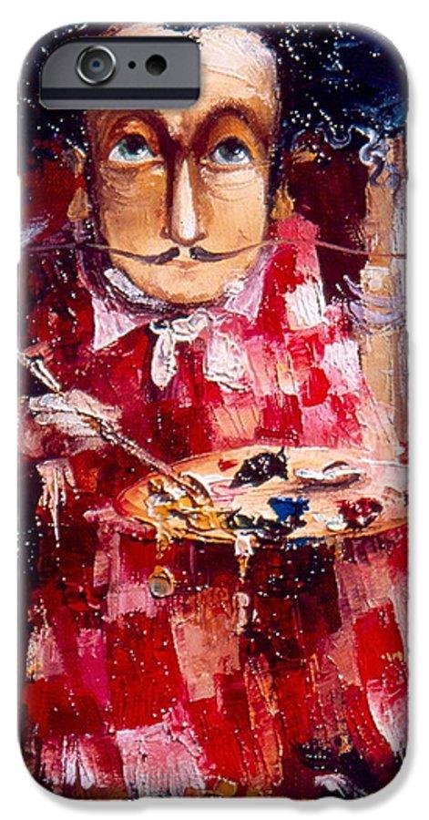 Genius IPhone 6 Case featuring the painting Genius by Gia Chikvaidze