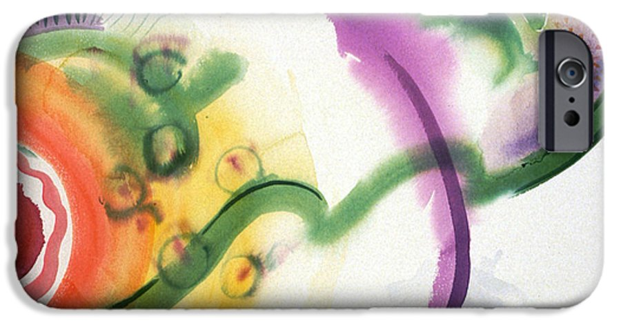 Abstract IPhone 6 Case featuring the painting Geomantic Blossom Ripening by Eileen Hale