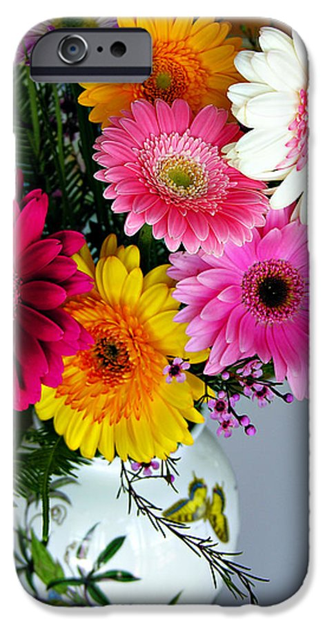 Flower IPhone 6 Case featuring the photograph Gerbera Daisy Bouquet by Marilyn Hunt