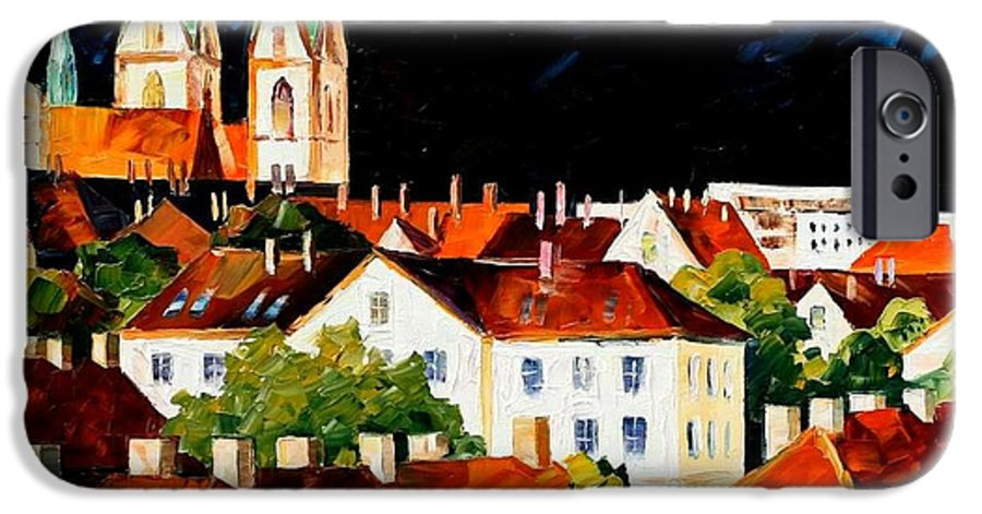 City IPhone 6 Case featuring the painting Germany - Freiburg by Leonid Afremov