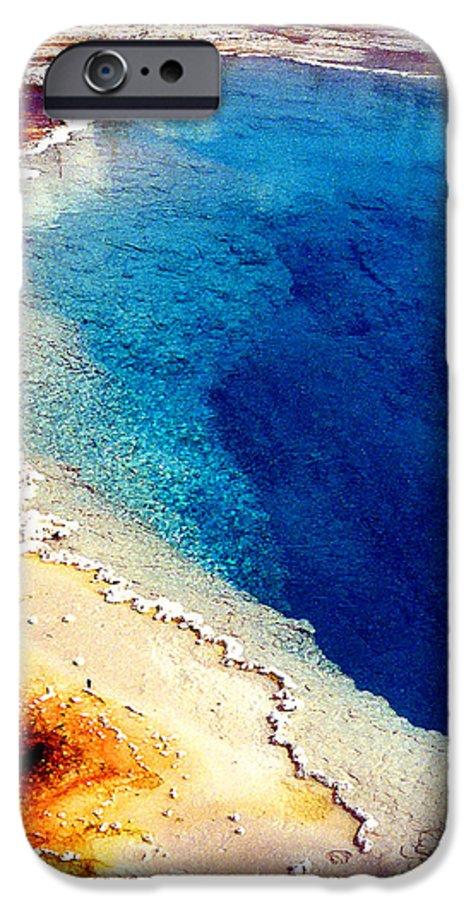 Geyser IPhone 6 Case featuring the photograph Geyser Basin by Nancy Mueller