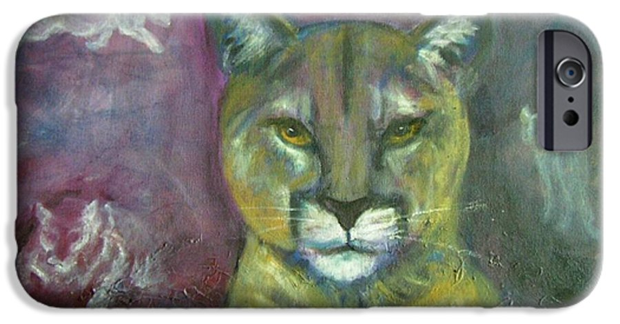 Wildlife IPhone 6 Case featuring the painting Ghost Cat by Darla Joy Johnson