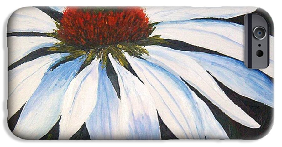 Cone Flowers IPhone 6 Case featuring the painting Ghost Cone by Tami Booher