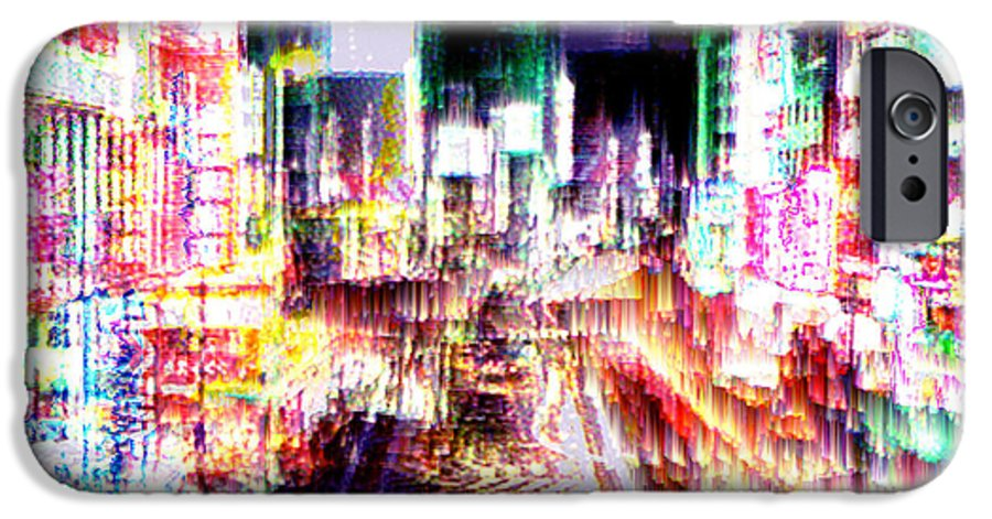 Tokyo IPhone 6 Case featuring the digital art Ginsa Glitz by Seth Weaver