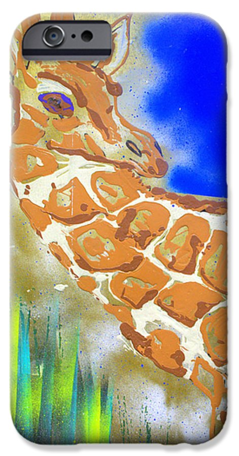 Giraffe IPhone 6 Case featuring the painting Giraffe by J R Seymour