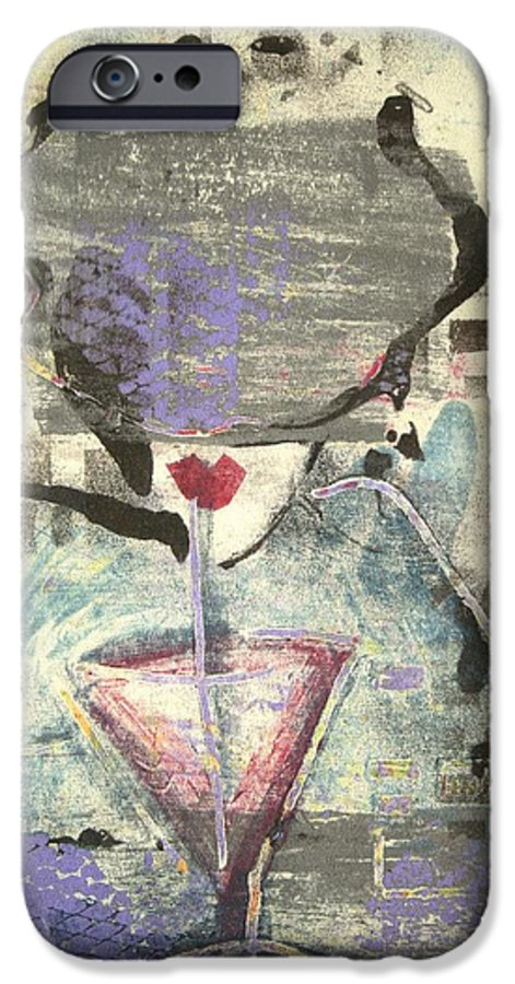 Cafe IPhone 6 Case featuring the painting Girl With Drink by Maryn Crawford