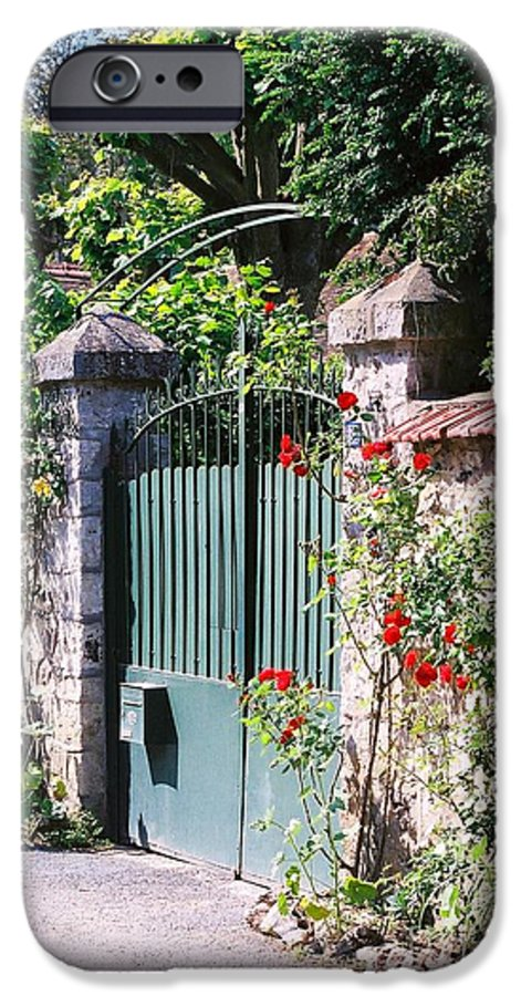 Giverny IPhone 6 Case featuring the photograph Giverny Gate by Nadine Rippelmeyer