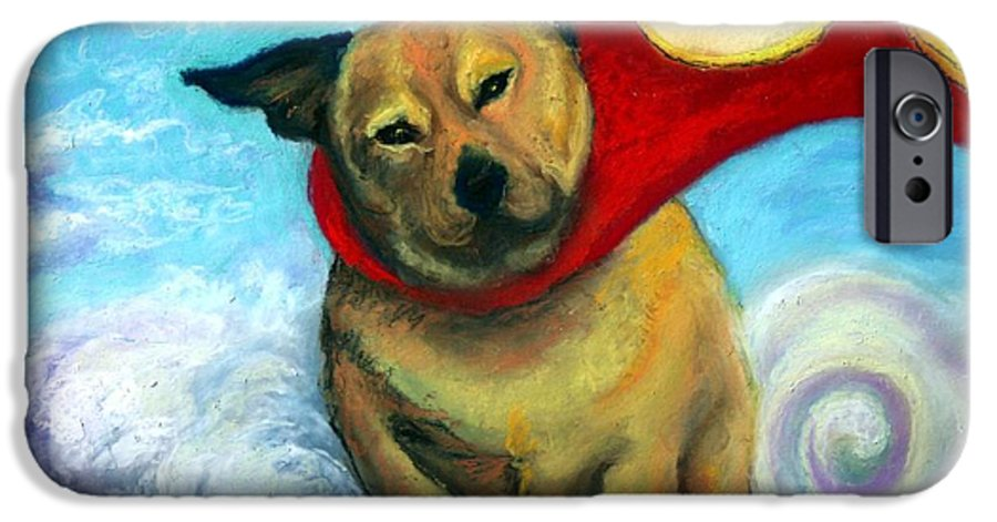 Dog IPhone 6 Case featuring the painting Gizmo The Great by Minaz Jantz