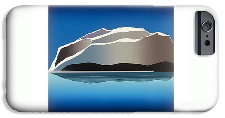 Landscape IPhone 6 Case featuring the mixed media Glaciers by Jarle Rosseland
