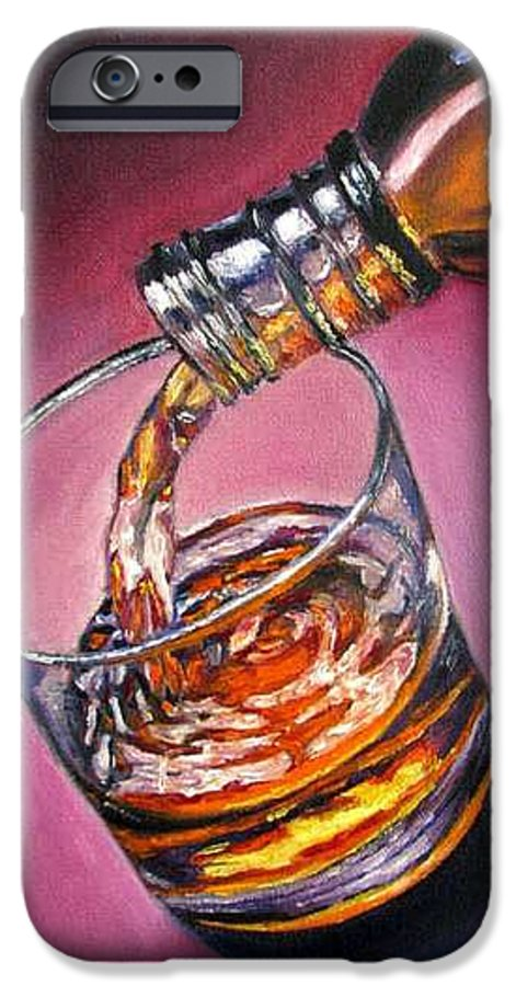 Glass Of Wine IPhone 6 Case featuring the painting Glass Of Wine Original Oil Painting by Natalja Picugina