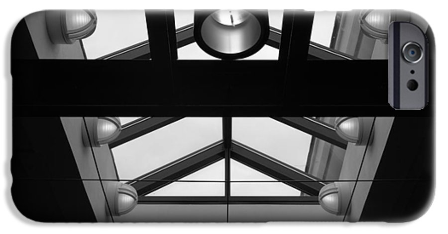 Black And White IPhone 6 Case featuring the photograph Glass Sky Lights by Rob Hans