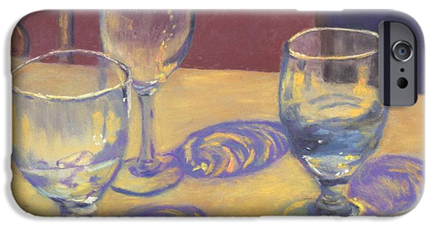 Glasses IPhone 6 Case featuring the painting Glasslights by Sharon E Allen