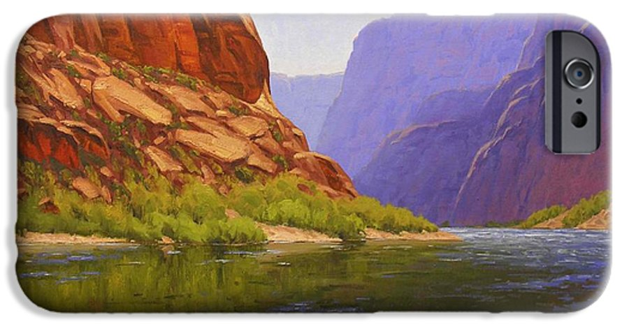 Cody Delong IPhone 6 Case featuring the painting Glen Canyon Morning by Cody DeLong