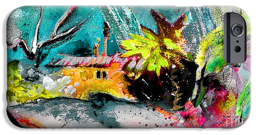 Pastel Painting IPhone 6 Case featuring the painting Glory Of Nature by Miki De Goodaboom