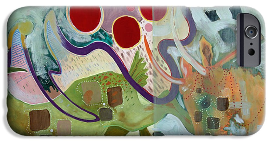 Abstract Expressionist Dream-surreal IPhone 6 Case featuring the painting Goat Squad by Eileen Hale