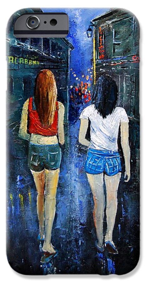 Girl IPhone 6 Case featuring the painting Going Out Tonight by Pol Ledent